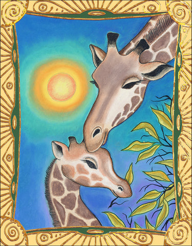 Giraffe Family Notecard