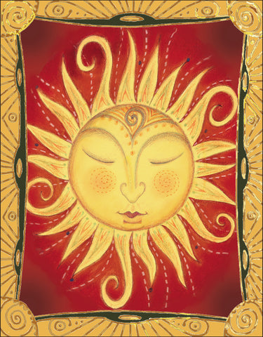 Indian Sun Notecard