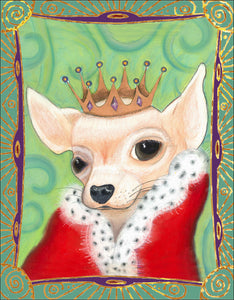 Royal Pup Notecard