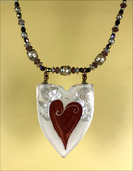 Flying Red Heart pendant