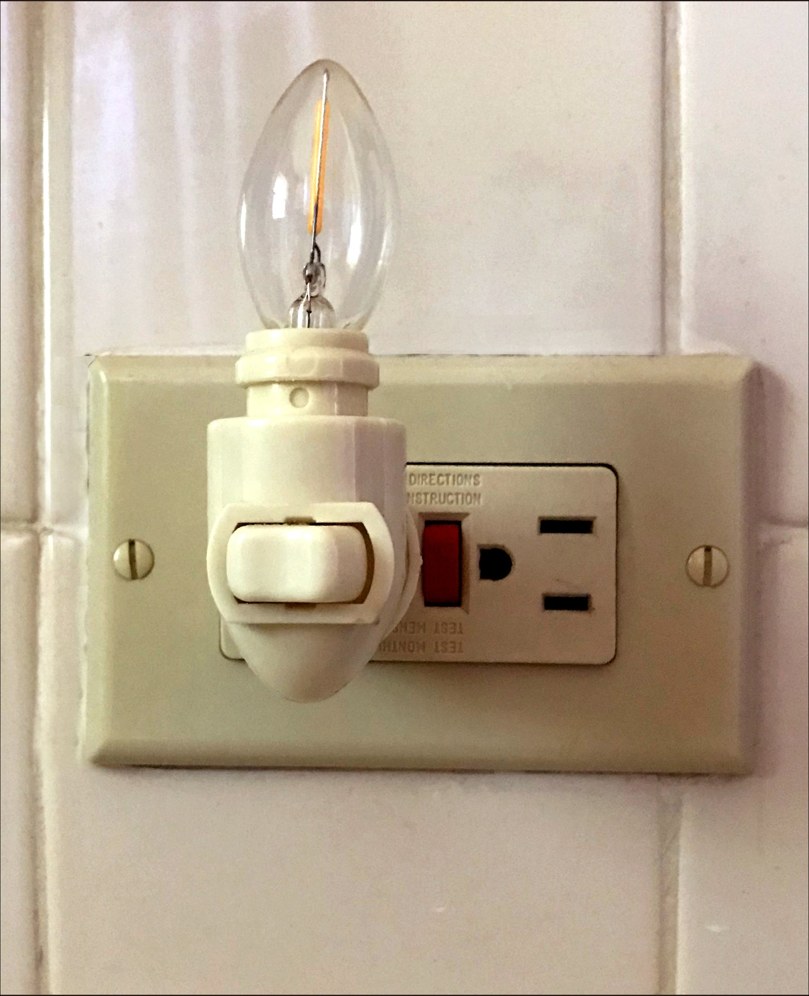 Nightlight part: Rotating fixture and bulb