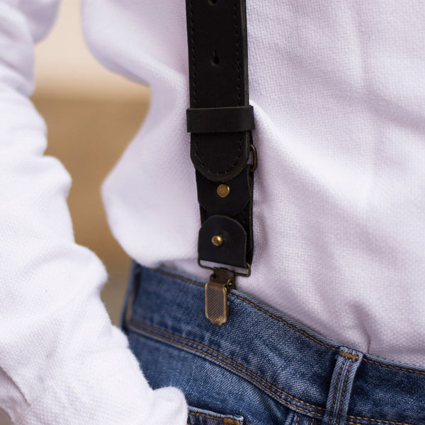 Provence Leather Suspenders