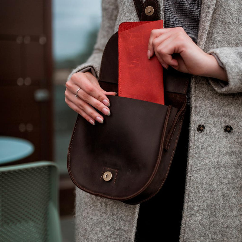 Tiny Leather Clutch Bag