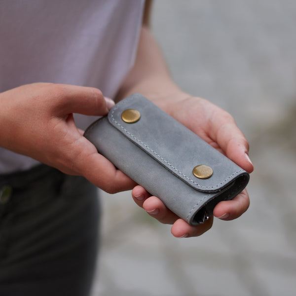 Woody Leather Key Case