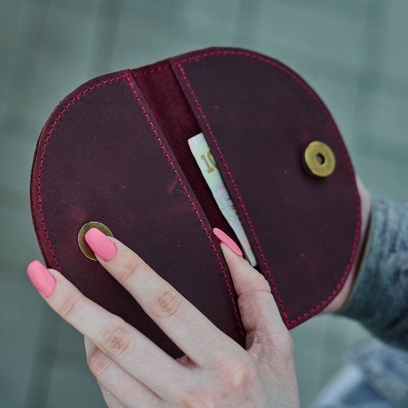 Half Leather Card Holder