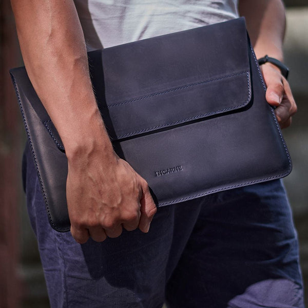 Line Leather Laptop Sleeve