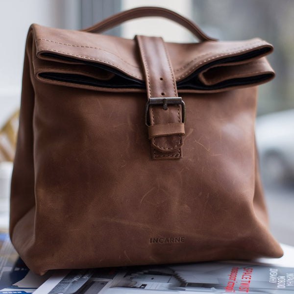 Leon Leather Lunch Bag