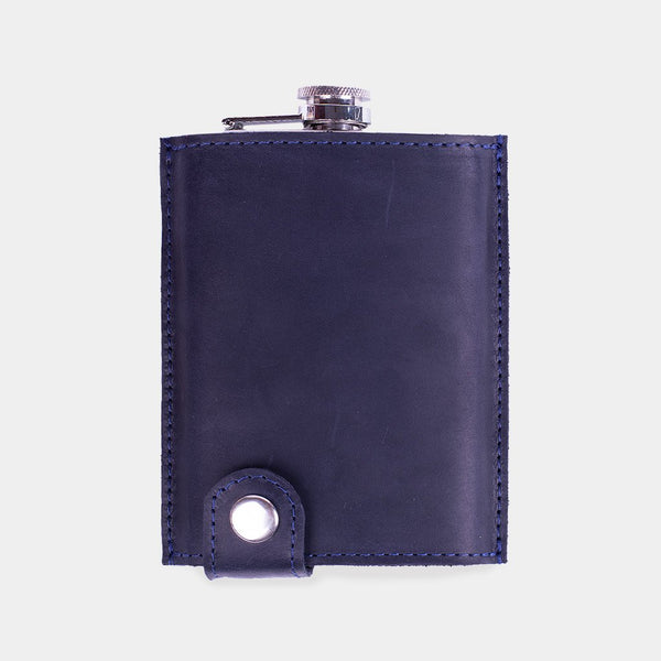 Billy Leather-Wrapped Flask