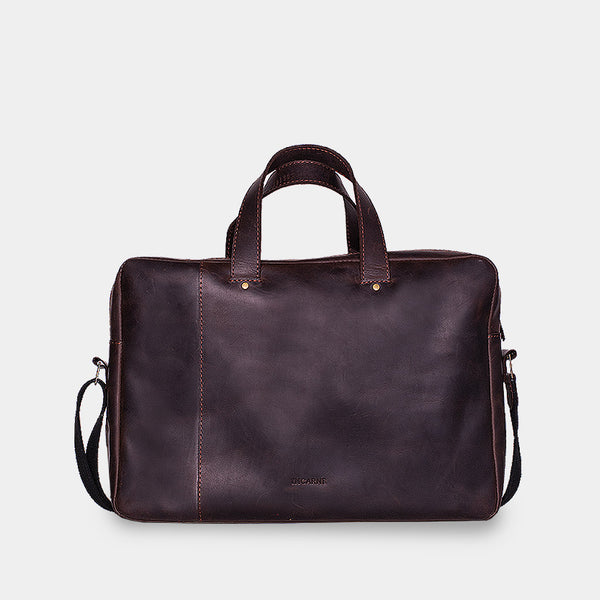 Minimalist Leather Laptop Bag «Bruno»