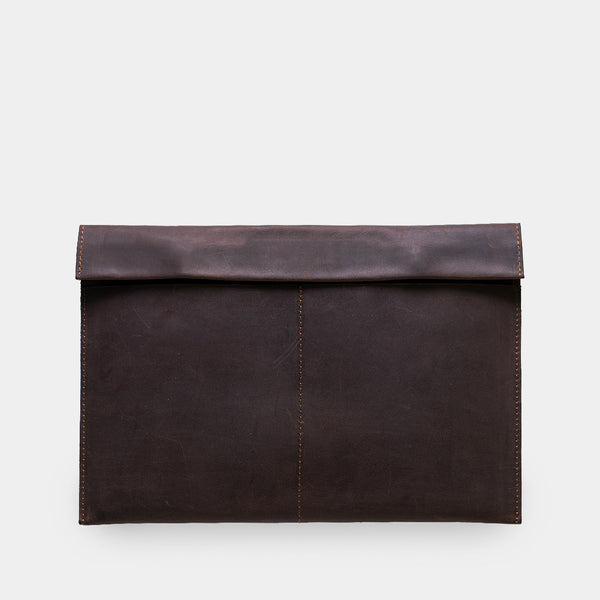 Leather Case With Patch Pockets Without Lining
