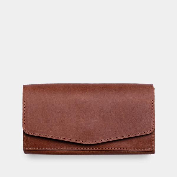 Capacious leather wallet «Simple»