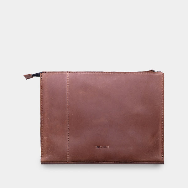 New Zipper Leather Laptop Sleeve