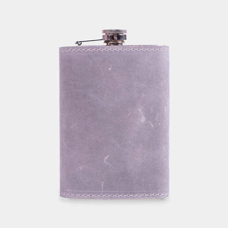 Western Leather-Wrapped Flask