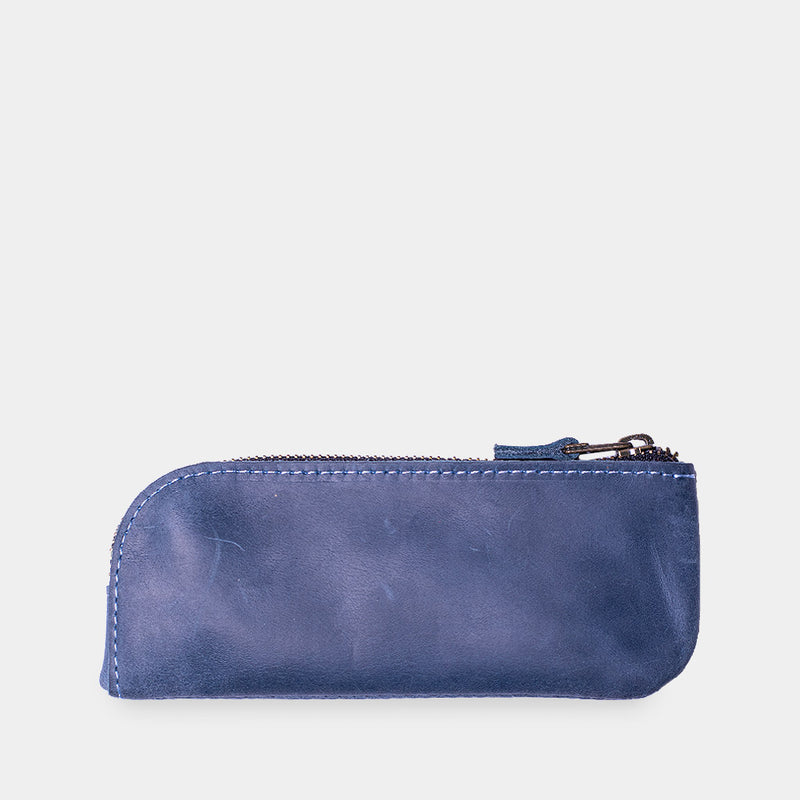 Spring Leather Eyeglass Case