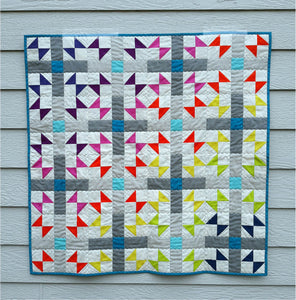 This Cross Play Quilt was made by Kris Jarchow