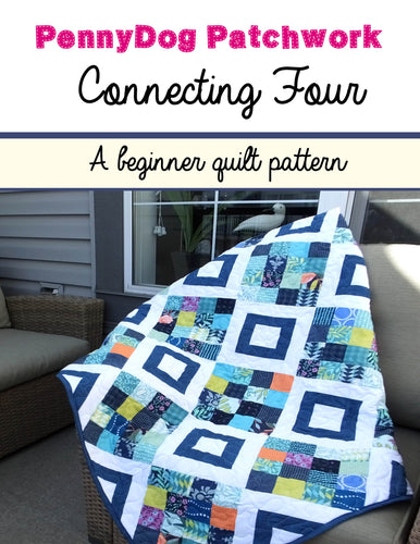 Connecting Four - A beginner quilt pattern