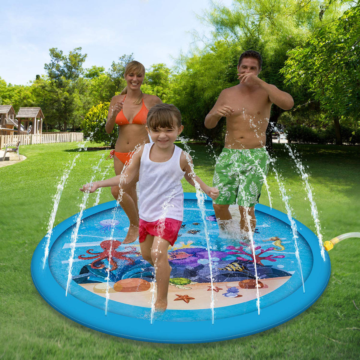 Sprinkle splash watermat