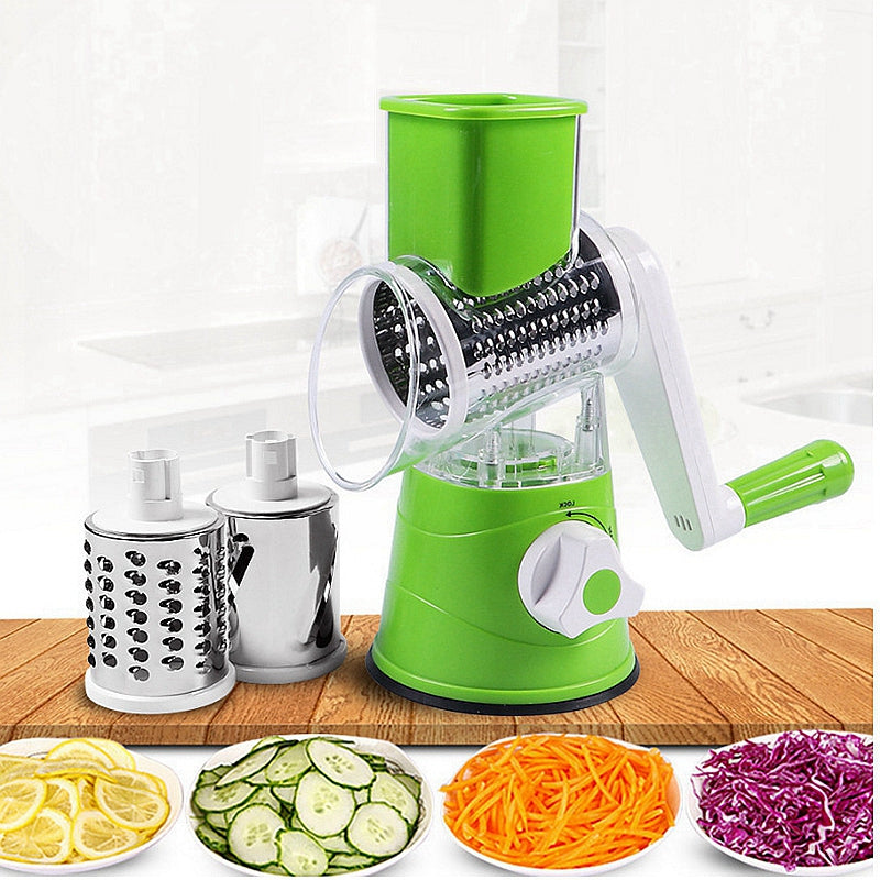 Multi-function Vegetable Cutter Graters Slicer Kitchen Vegetable Fruit Tools Round Mandoline Slicer Potato Cheese Shredders Tool