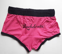 Womens Bachelorette Pink Novelty Boyshorts Short Shorts Cortos - Gmbu Apparel