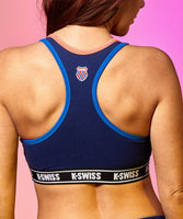 Womens K-Swiss' Spectrum Medieval Blue Large Sports Bra - Gmbu Apparel