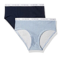 Tommy Hilfiger Women's Cotton Printed Hipster Underwear Panties (2 Pack) - Gmbu Apparel
