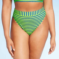 Xhilaration Juniors' Ribbed High Leg High Waist Bikini Bottom - Gmbu Apparel