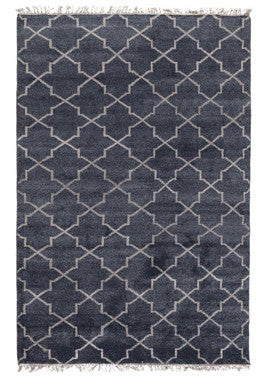 Hand Knotted Terrace Navy Rug