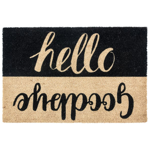 Doormat Hello Goodbye Black