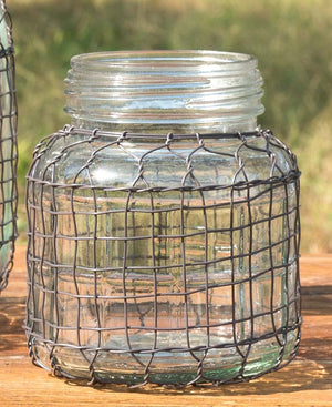 Primitive Wire Covered Jar