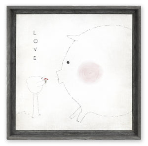 Blushing Pig - Shelf Artwork