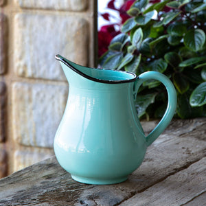 Enamel Milk Pitcher Vase