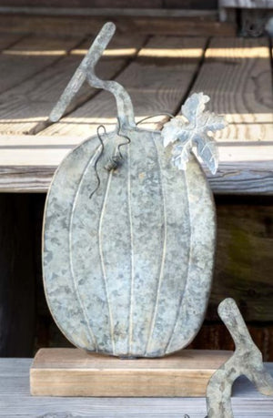 Weathered Tin Pumpkins - Oblong 1