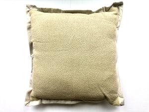 Maze Jute Pillow with Velvet Flange