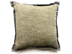 Plush Sage Pillow with Velvet Flange