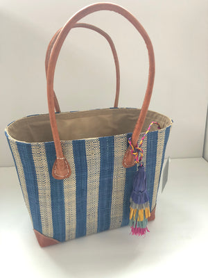 Trinidad Striped Straw Bag