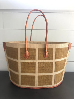 Capri Squares Straw Bag - Small