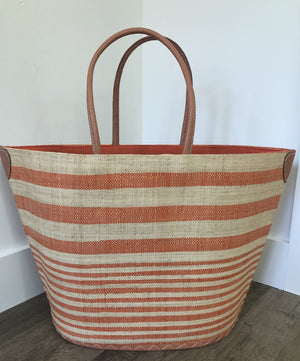 Santa Cruz Stripes Straw Bag - Orange