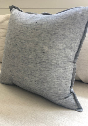 Chambray Blue Pillow