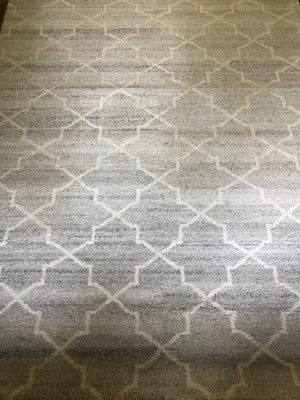 Hand Knotted Terrace Silver Rug