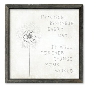 Practice Kindness - Shelf Artwork