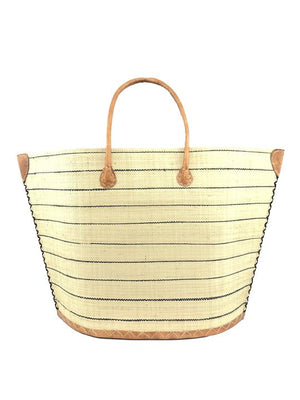 Santa Cruz Pin Stripes Straw Bag