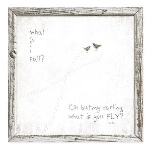 what if i fall? Shelf Artwork