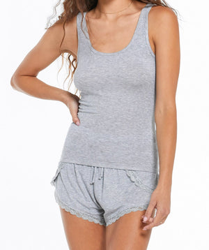 Easy Does It Tank Top - Heather Grey