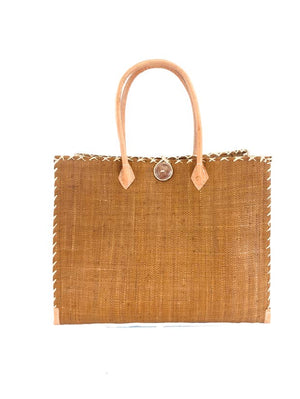 Zafran Straw Beach Bag