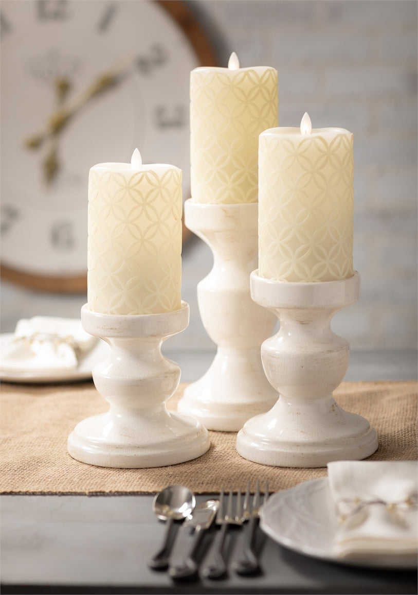 "Pillar Candle Holder - small (6""high)"