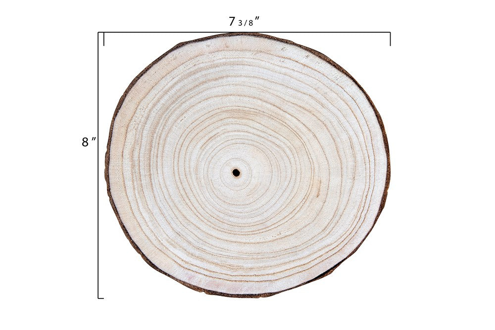 Round Paulownia Wood Slice - Medium