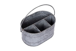 Galvanized Metal Caddy