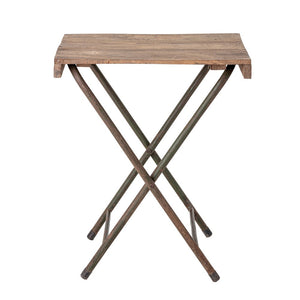 Wood Table with Metal