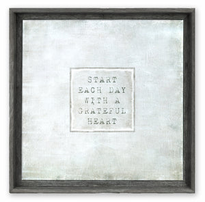 Start Each Day with a Grateful Heart Artwork