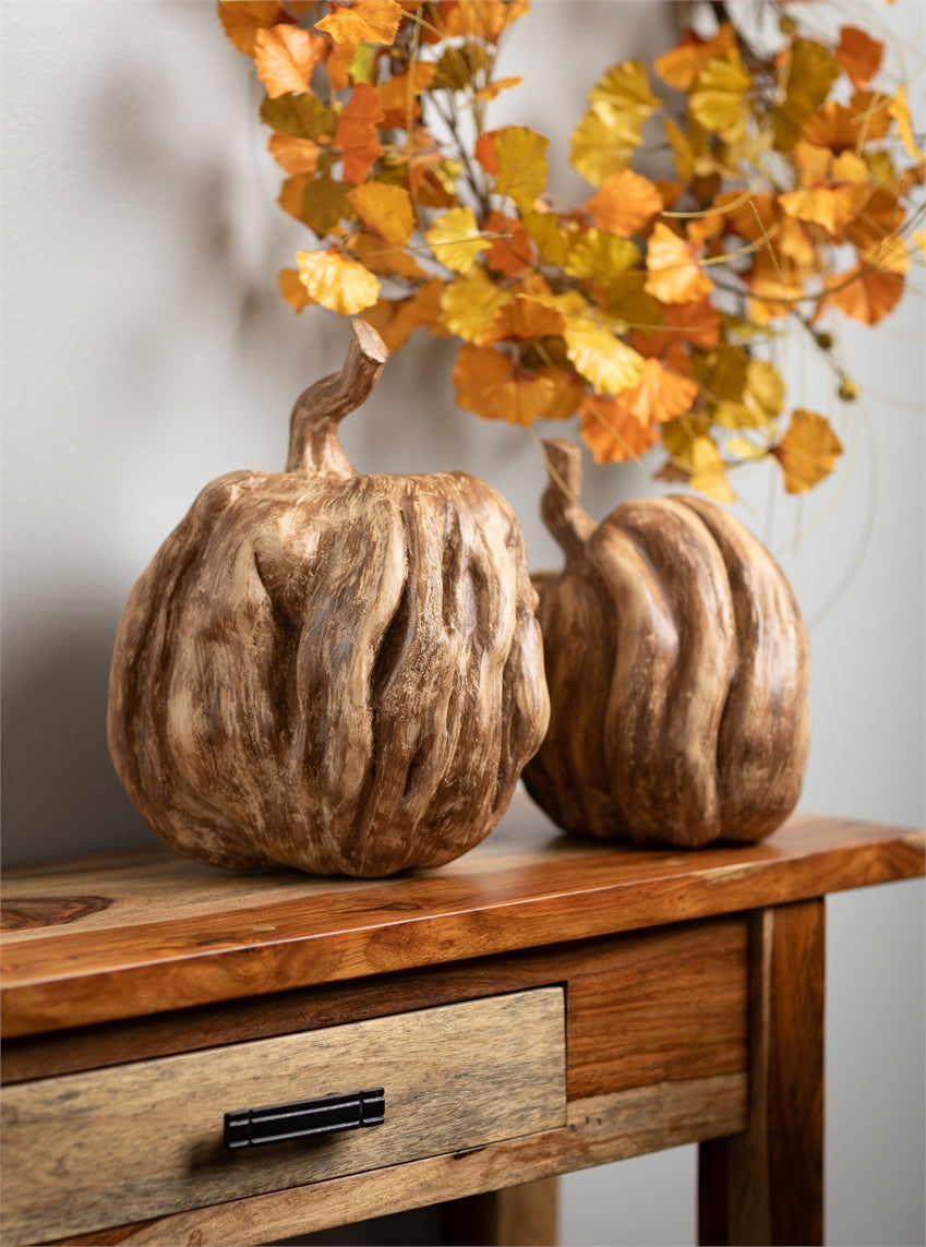 "Resin Pumpkins - 9"" high"